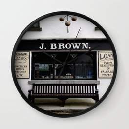 Store Front From the Past Wall Clock