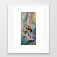 surfer Framed Art Prints featuring Surfer by Michael Creese