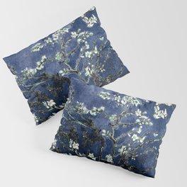 Vincent Van Gogh Almond Blossoms Dark Blue Pillow Sham