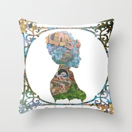 Graffiti Girl Throw Pillow