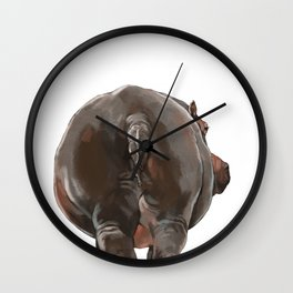 Hippo Butt Wall Clock