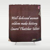 women Shower Curtains featuring Women by Grace Thanda