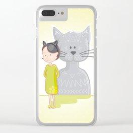 Cat's spirit Clear iPhone Case