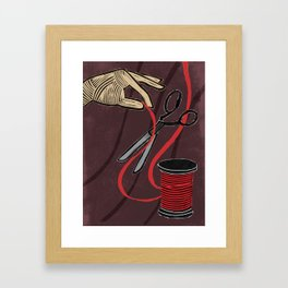 Death Tarot card Framed Art Print