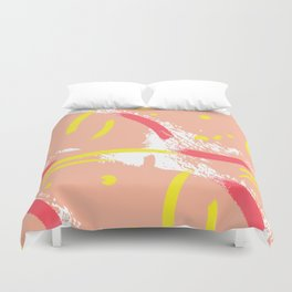 Yellow red beige Duvet Cover