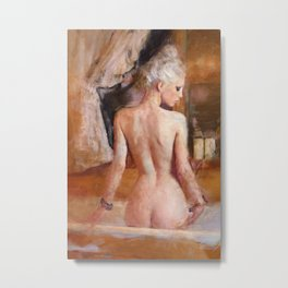 Nude Study Of Young Platinum-Haired Woman Metal Print