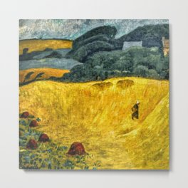 Fields of Gold, Tuscany, Italy landscape by Paul Serusier Metal Print