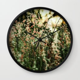 Flowers in the sun Wall Clock