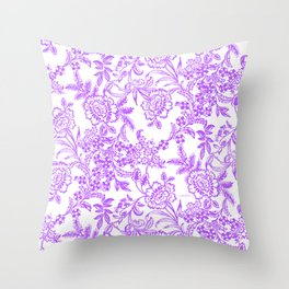 Radiant Orchid Tea Reversed Throw Pillow