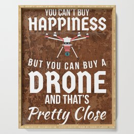 DRONE HAPPINESS FUNNY GIFT Serving Tray