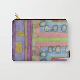 Strolling in a colorful city Carry-All Pouch