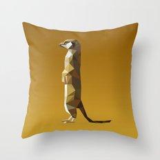 Geometric Meerkat Throw Pillow