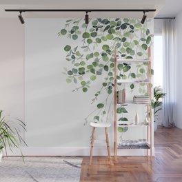 Eucalyptus Watercolor Wall Mural