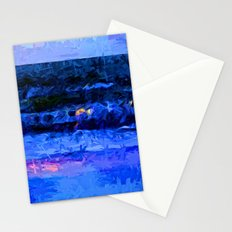 Wild Blue Sea under the Lavender Sky Stationery Cards