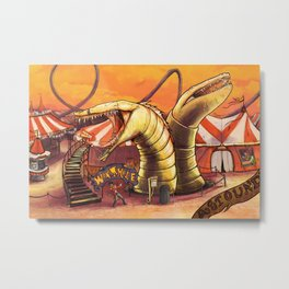 Ride the Wormhole Metal Print