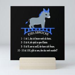 Donkey School Kid 2020 Funny Donkey Bridge Math Mini Art Print