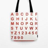 alphabet Tote Bags featuring Alphabet by Sébastien BOUVIER
