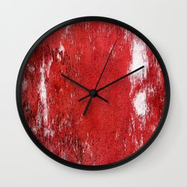 RED PAINTED BARNWOOD Wall Clock