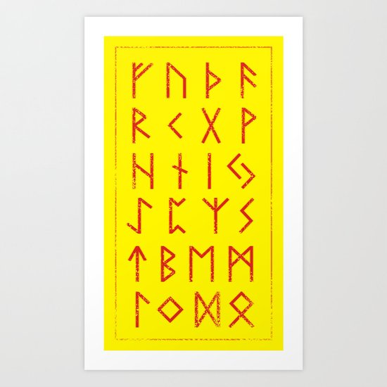 Elder Futhark Art Print