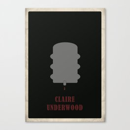 House of Cards - Claire Canvas Print