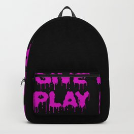 Give Blood Play Rugby Women Girls Backpack