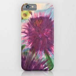 Purple Thistle Growing iPhone Case