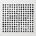 Black and White Minimal Minimalistic Polka Dots Brush Strokes Painting by aej_design