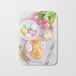 Easter breakfast table Bath Mat