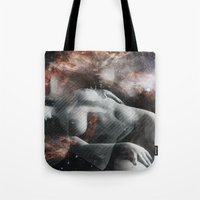 milky way Tote Bags featuring Milky Way by Liaison Érotique