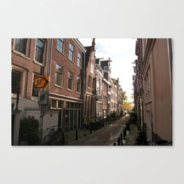 Side Streets of Amsterdam Canvas Print