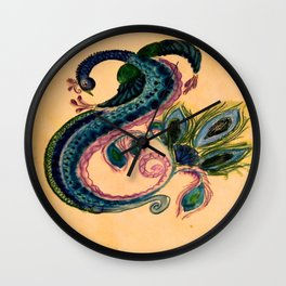 Infinite Peacock Wall Clock