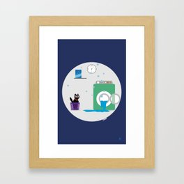Swim Aduki, swim! Framed Art Print