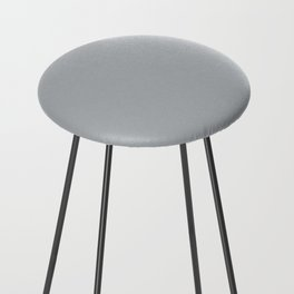 Best Seller Ultra Pale Grey Solid Color Parable to Jolie Paints French Grey - Shade - Hue - Colour Counter Stool