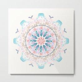 Pastel Goodness Soft Mandala Metal Print