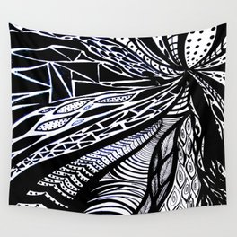 Gaia's Garden in Black & White 3 Wall Tapestry