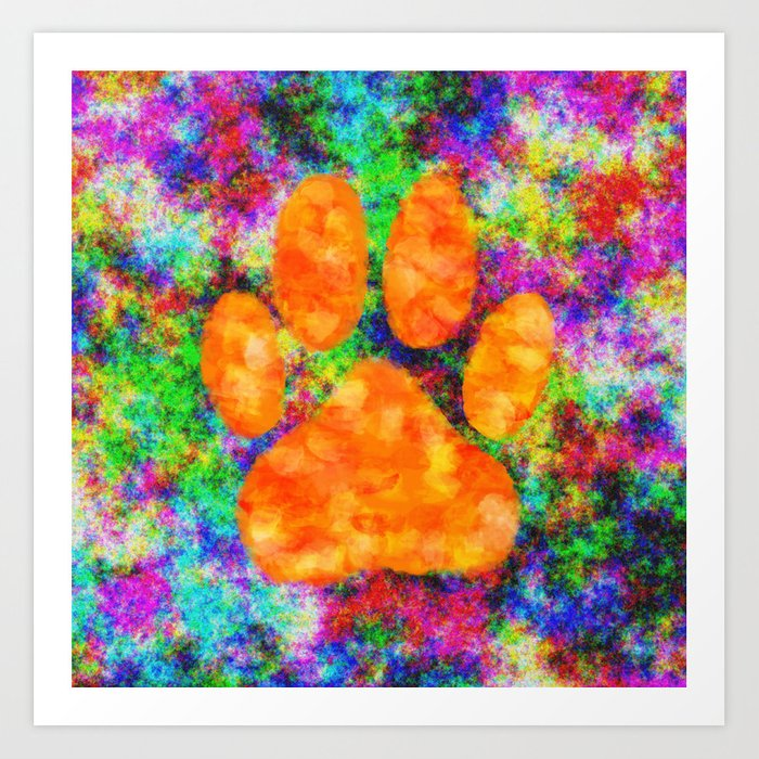d4a3294afa7d Dog Paw Print Watercolor Art Print by almdrs | Society6
