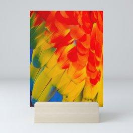 Macaw Feathers Mini Art Print