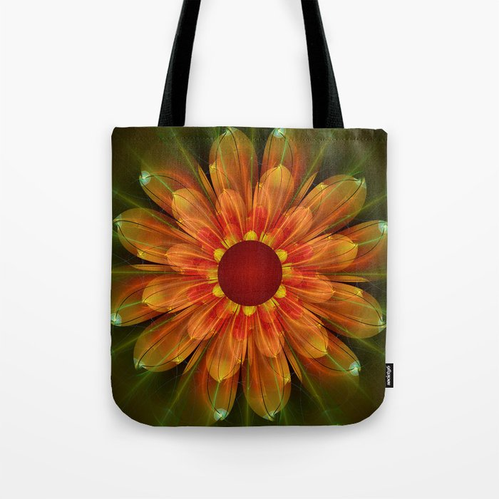 Artistic fantasy succulent flower Tote Bag