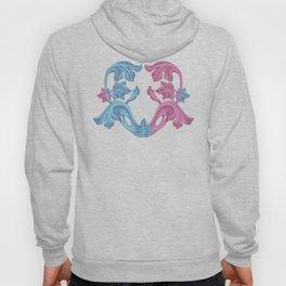 Heart pink & Azur Hoody