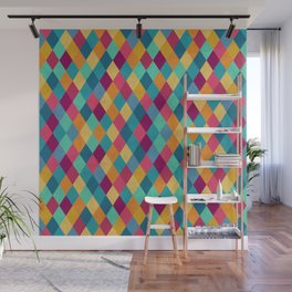 Colored Diamonds Wall Mural
