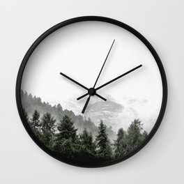 Love Nature, Forest Fog Wall Clock