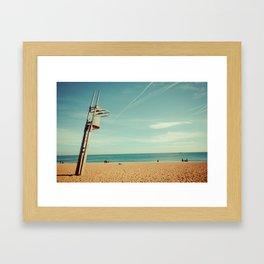 Barcelona: Barceloneta Beach Framed Art Print