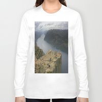 norway Long Sleeve T-shirts featuring Preikestolen, Norway (2) by Kim Ramage