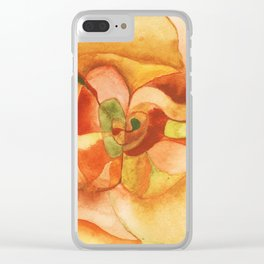 Watercolor Abstract Apple Clear iPhone Case