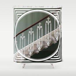 Stairway to Heaven - geometric circle Shower Curtain