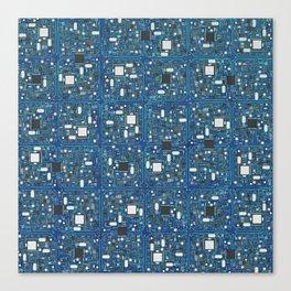 Blue tech Canvas Print