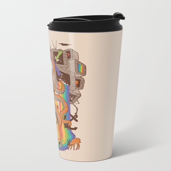 A Fragmented Reality Metal Travel Mug
