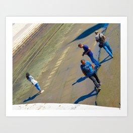 Men in Blue Art Print
