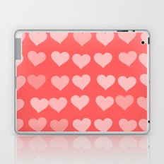 Cute Hearts Laptop & iPad Skin