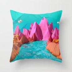 spring deny Throw Pillow